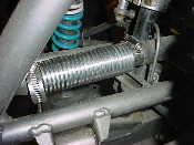 Kawasaki KFX 700 in-line ribbed coolant cooler